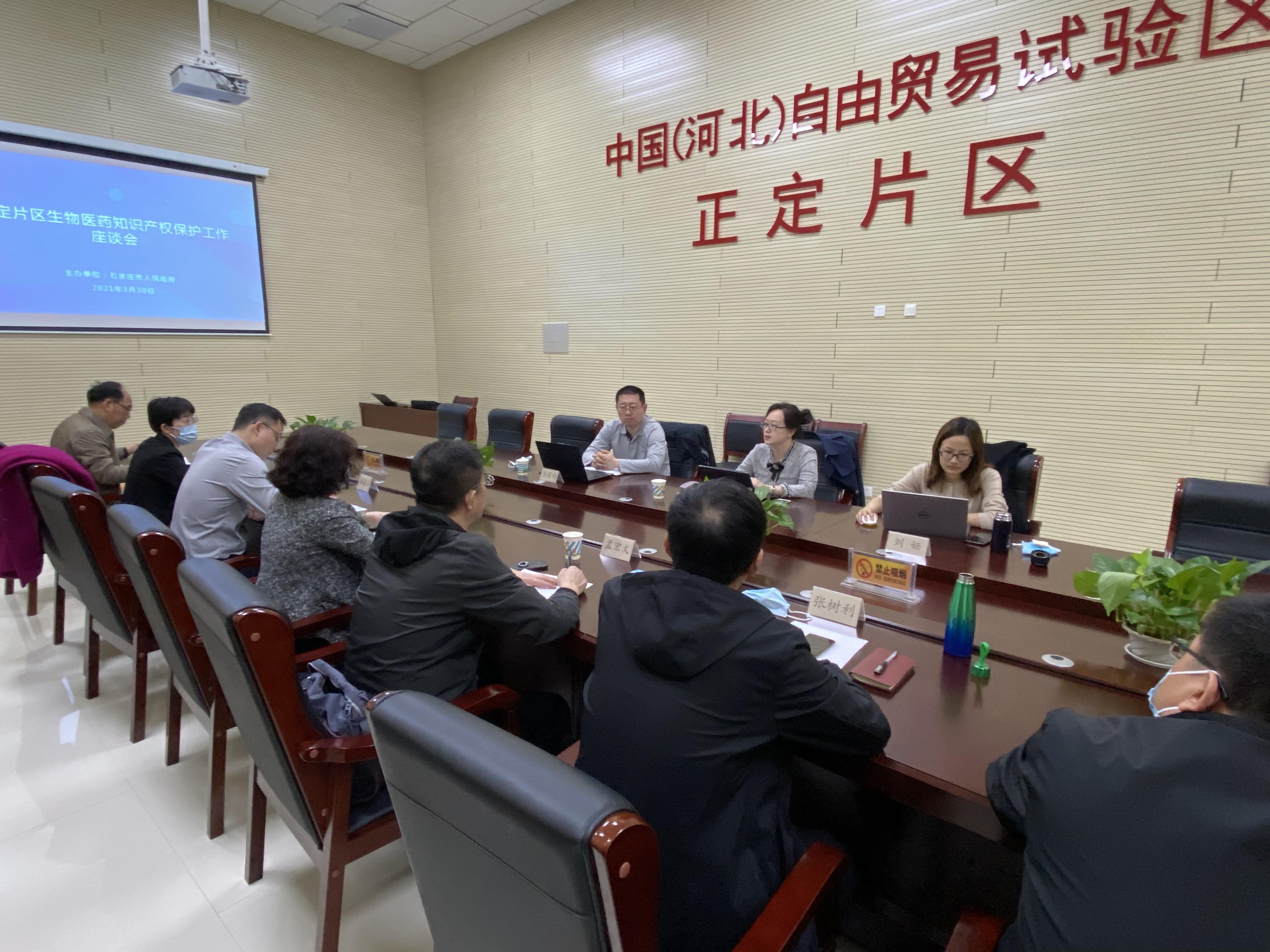 正定片区召开生物医药知识产权保护工作座谈会